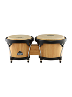 Nino NINO3NT-BK Wood Bongos Natural/Black
